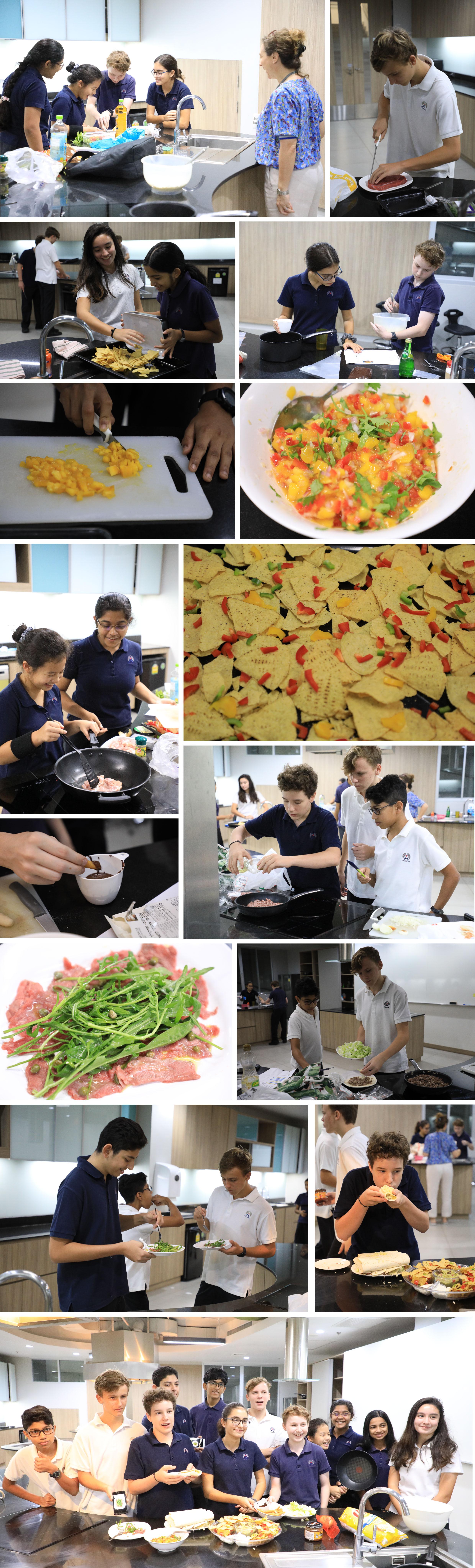 Patana Students prepare Hispanic dishes