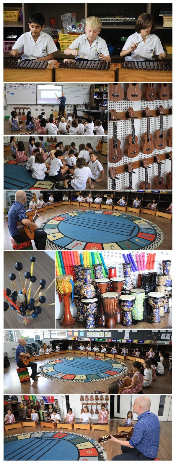 Year 5 students study harmony
