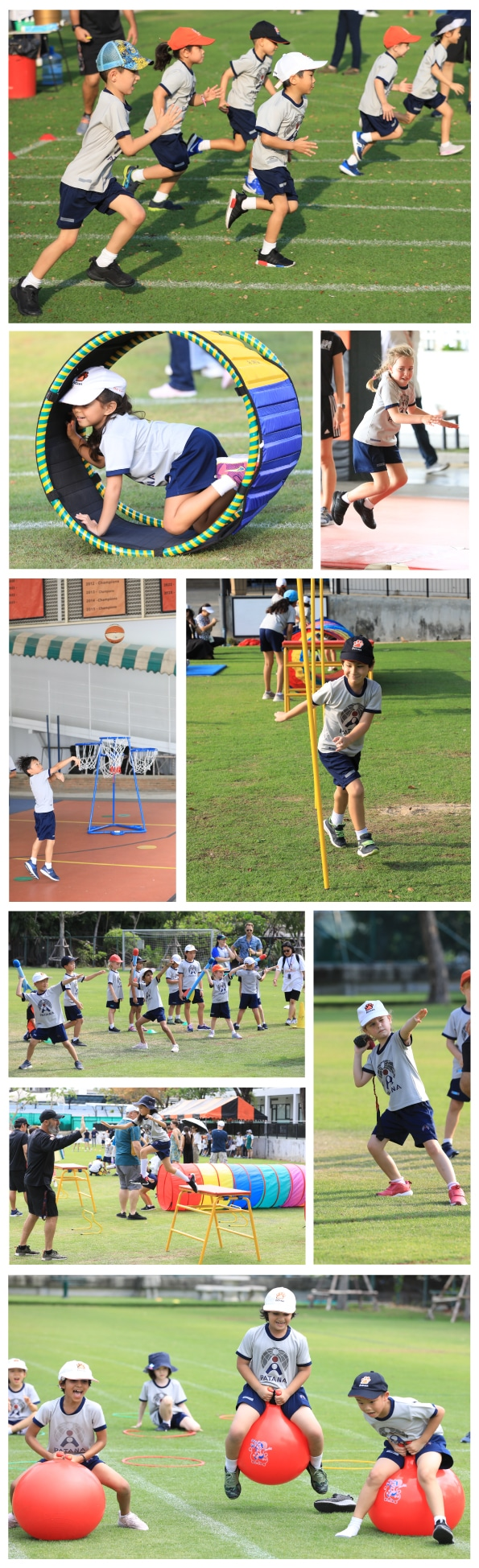 Key Stage 1 students on Sports Day