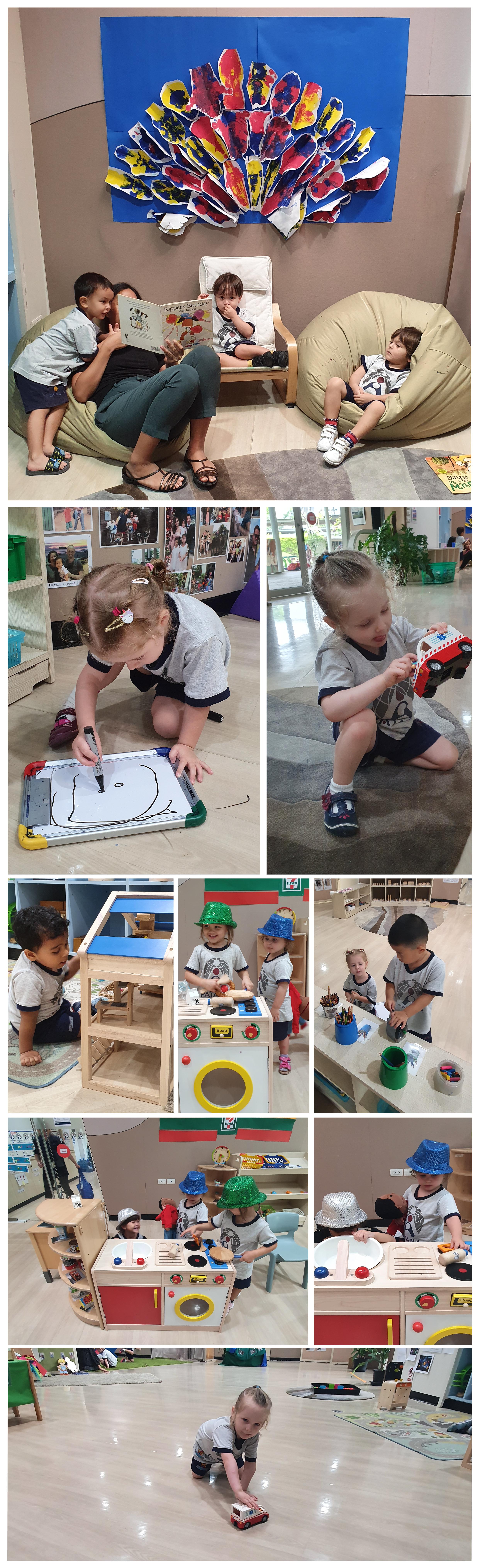 Children in Nursery keep active